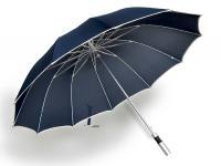 包邮正品宏达长柄雨伞高端大伞铝合金骨架弹簧结实耐用广告伞黑色