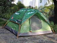 正品盛源高端液压自动4-5人加大帐篷双层双开门防紫外线加厚布料