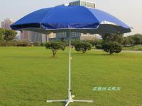 户外特大伞太阳伞遮阳伞2.6米加固防风骨架加厚防紫外线银胶