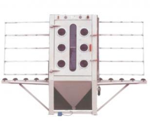 通宝平板通过式手动喷砂机  输送式喷砂机