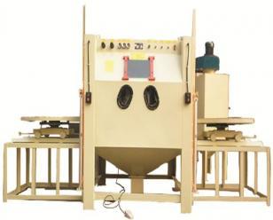 通宝电动门推车双转台式喷砂机  强化清理机