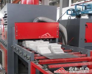 通宝辊道输送式自动喷砂机  通过式喷砂机