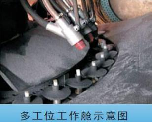 通宝气门嘴转盘式自动喷砂机  多工位转盘式喷砂机